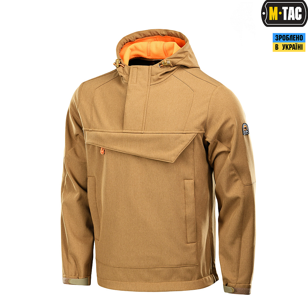 M-Tac анорак Soft Shell Fighter Coyote/Orange