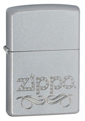 ZIPPO зажигалка zippo scroll satin chrome