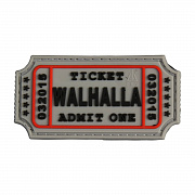 JTG Walhalla Ticket Patch Grey
