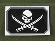 MSM Pirateskull Flag Decal SWAT