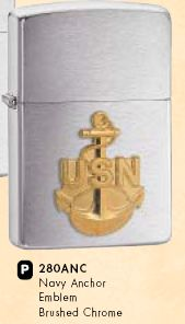ZIPPO зажигалка  navy anchor