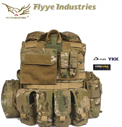 Flyye Force Recon Vest with Pouches Maritime Ver. Multicam