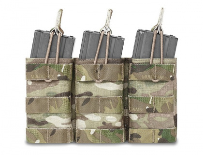 WAS Triple MOLLE Open 5.56mm Pouch Multicam