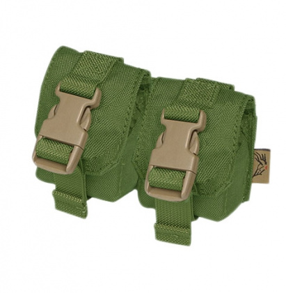 Flyye Double Frag Grenade Pouch OD