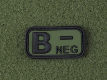 JTG B Neg Blood Type Patch Forest