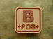 JTG B Pos Blood Type Square Patch Desert