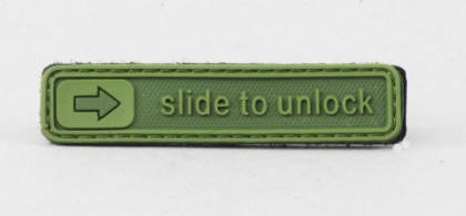 James Weekend Warrior Slide To Unlock PVC Velcro Patch OD