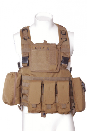 Royal Tiger Tactical Chest Rig (with pouches) Coyote Brown