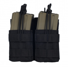Condor Double Stacker Open-Top M4 Mag Pouch Black