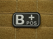 JTG B Pos Blood Type Patch SWAT