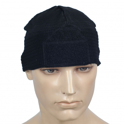 Emerson Fleece Watch Cap (with velcro) BK