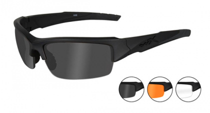 Wiley X очки Valor Clear/Grey/Light Rust Lens/Matte Black Frame