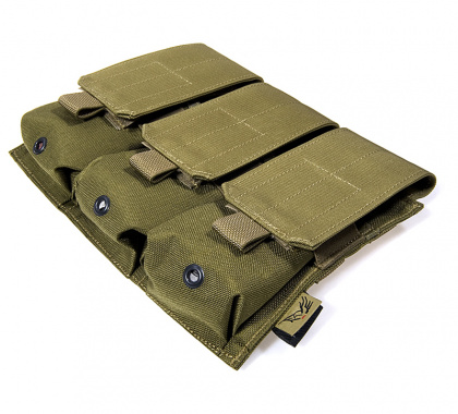 Flyye MOLLE Triple M4/M16 Mag Pouch CB
