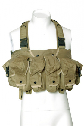 RT AK Tactical Assault Chest Rig Vest - Coyote Tan