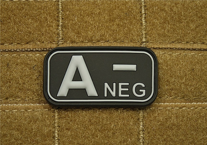 JTG A Neg Blood Type Patch SWAT