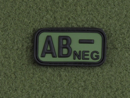 JTG AB Neg Blood Type Patch Forest