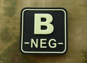 JTG B Neg Blood Type Square Patch GID