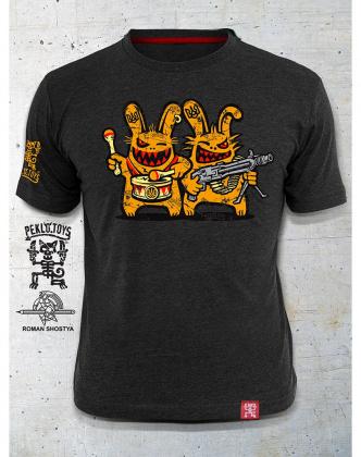 PEKLO.TOYS футболка Близнюки Melange Graphite f2abcdefd40fd